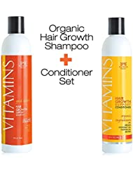 NEW! PREMIUM Vitamins Hair Growth Shampoo and Conditioner - Tested in Clinical Trials, Proven in Customer Results - by Nourish Beaute