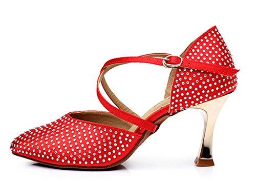 Zapatos femeninos de la danza / zapatos profesionales de la danza / zapatos suaves de la danza Red