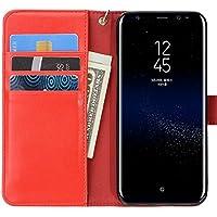 Doormoon Wallet Case Compatible with Samsung Galaxy S8 (Red)