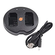 DSTE Dual USB Charger for Sony NP-FW50 ILCE-5100L A5100 A6000 QX1 NEX-C3 F3 3N 5C Digital Camera