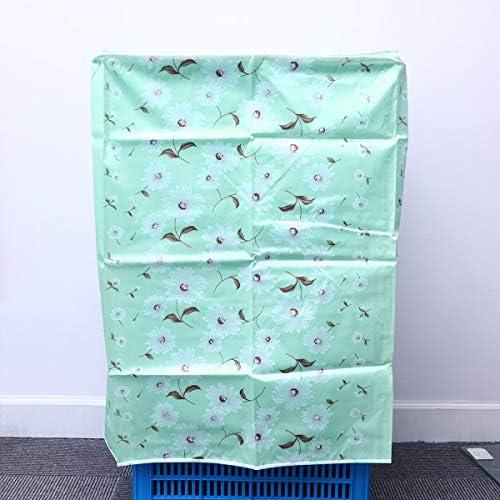 VOSAREA Coprilavatrice Verticale Impermeabile con Cerniera Anti-Spruzzi e Anti Sunlight 55 /× 58 /× 87 cm Rosa-Bianco con Verde