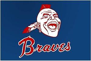 "Lilyanaen New Metal Sign Aluminum Sign Braves Baseball Atlanta Wall Card Shop Bar Metal Decor for Outdoor & Indoor 12"" x 8"""