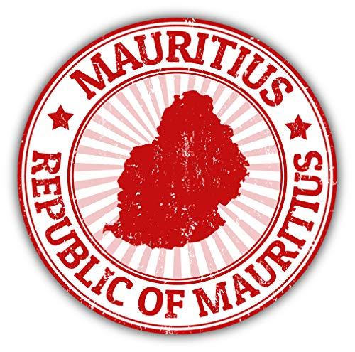Mauritius National Travel Stamp Car Bumper Sticker Decal
