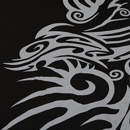 Hiver Retro Imprimé Avec hui Capuche Manches Noir Sweats Gothique Sweatshirt Bonnet Un Hommes Floral À Blouse effortles Hui Hooded Homme Motif Longues Pour Tops Ztq66n