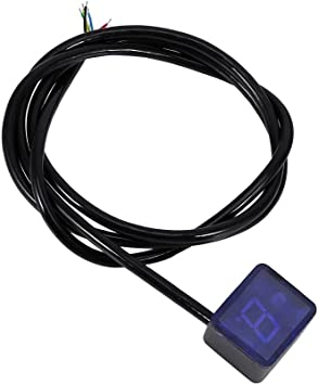 1x LED Universal Digital Gear Indicator Motorcycle Display Shift Lever Sensor  !