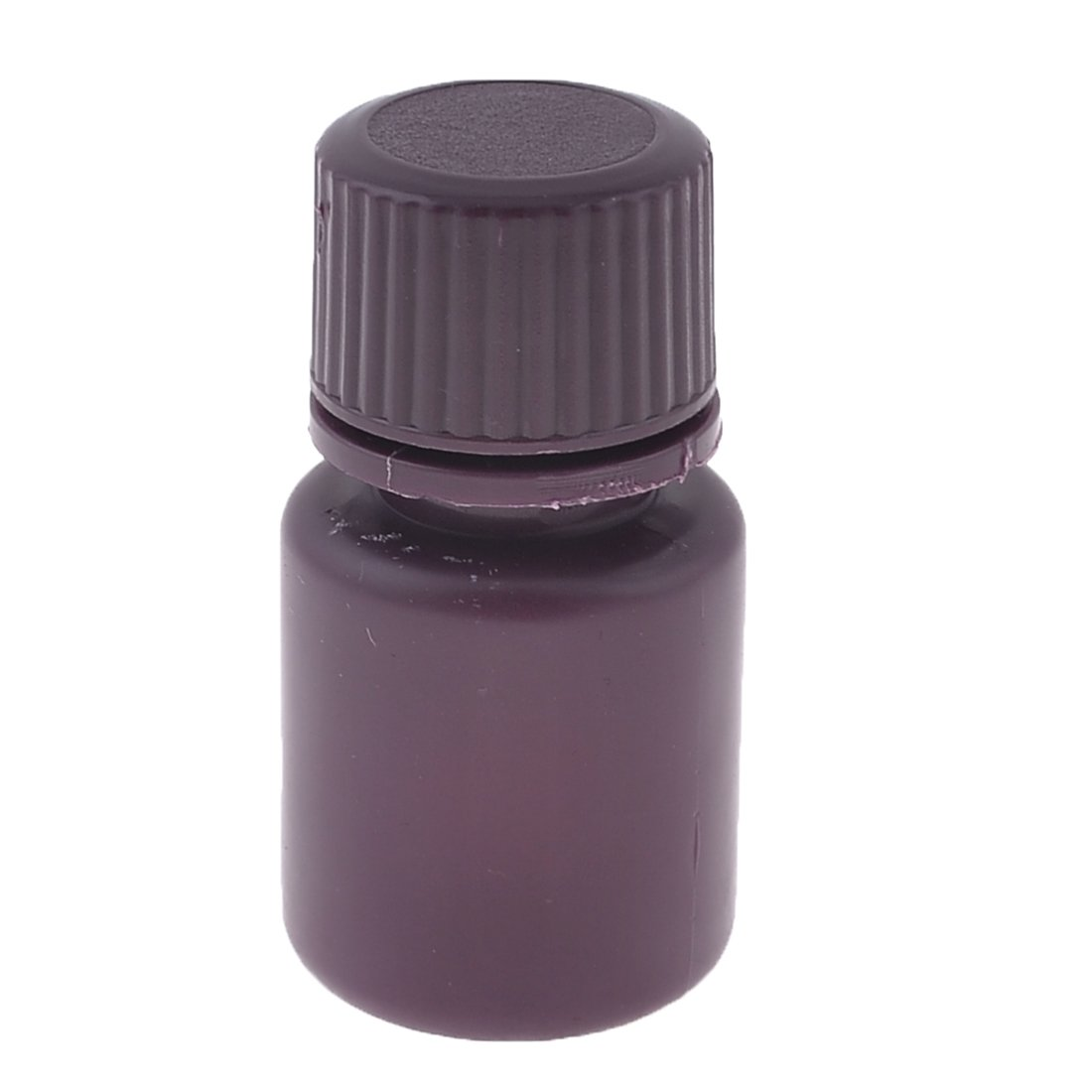 uxcell Screw Cap Cover 15ml Liquid Chemicals Storage Reagent Bottle Maroon