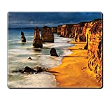 gel kitchen mats australia Mouse Pad Unique Custom Printed Mousepad Seaside Decor Collection Twelve Apostles Australia Sunset Great Ocean Road Coast Cliff By Sea Picture Gold Navy Stitched Edge Non Slip Rubber