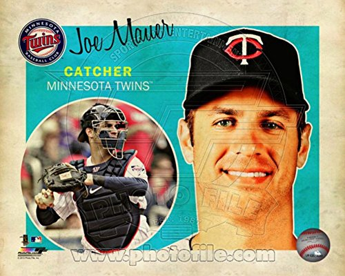 Joe Mauer Studio - Joe Mauer 2013 Studio Plus Photo 14 x 11in