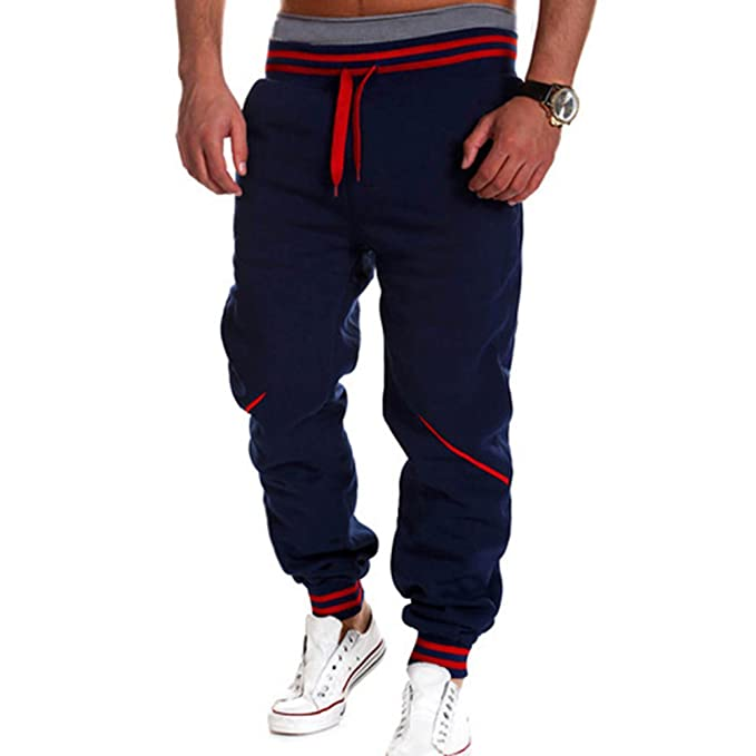 Minetom Invierno Moda Pantalones Casuales Para Hombre Jogger de Deportivos Ocio Aptitud Pantalones Slim Fit Jogging uvXaJIpg7