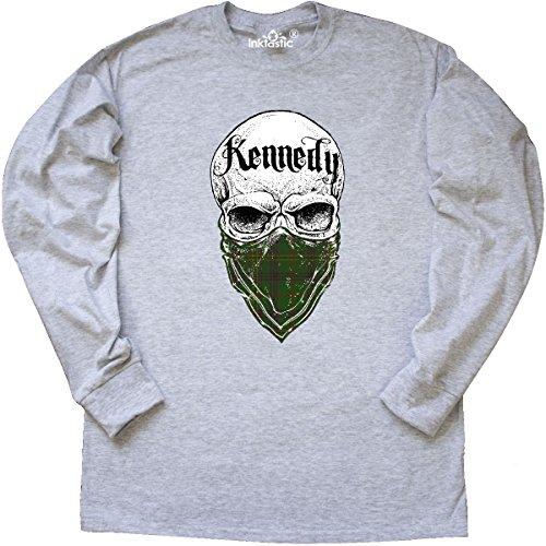 Tartan Bandit Long Sleeve T-Shirt Large Ash Grey (Kennedy Ash Grey T-shirt)