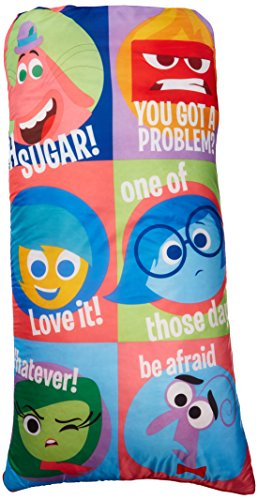Disney/Pixar Inside Out Slumber Bag, Bonus Backpack with Straps, Multi Color -