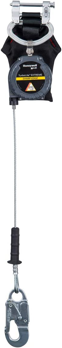 MFLEC-12//6FT Miller TurboLite Edge EXTREME Sharp Edge 6-Foot Personal Fall Limiter with Aluminum Locking Rebar Hook