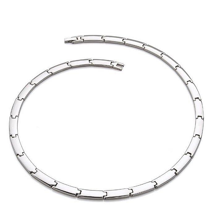 Amazon Com Silver Pure Titanium Magnetic Therapy Chain Germanium
