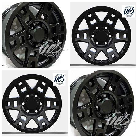Brand New 17 x 8 Matte Black Style compatible with Tacoma 4Runner FJ TRD Toyota Pro Wheels Cruiser Set of 4 TOYOTA Hub Bore 106.1 (Set Of - Cruiser Fj Trd