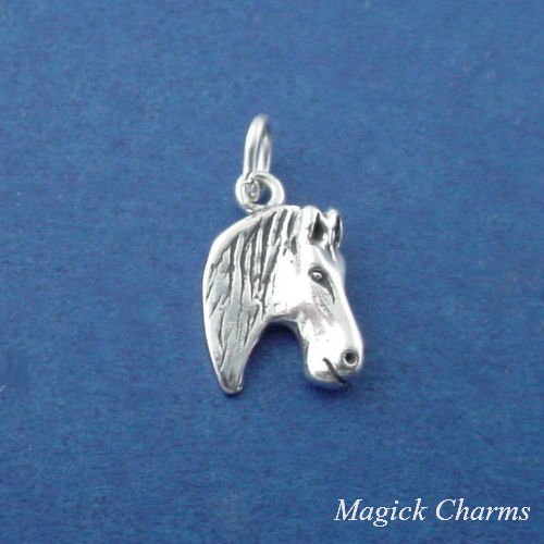 925 Sterling Silver Horse Head Charm Pendant Jewelry Making Supply, Pendant, Charms, Bracelet, DIY Crafting by Wholesale Charms