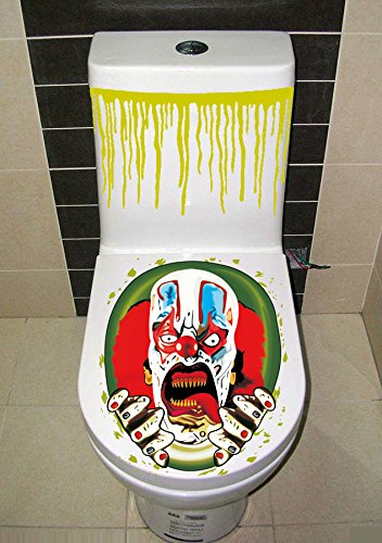 Halloween Horror Toliet Seat Cover Scary Fancy Cover Sticker -