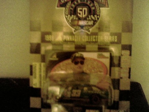 1998 - Racing Champions - NASCAR 50th Anniversary - Ken Schrader - No. 33 Chevrolet Monte Carlo - 1:64 Scale Die Cast Replica Car, Collectible Card and Display Stand