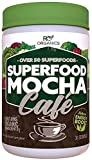 Super Greens Powder | Mocha Chocolate | Whole Food Supplement | Real Superfoods, Fruit & Vegetables Including Organic Spirulina, Broccoli, Spinach, Maca, Kelp, Milk Thistle & More. Review