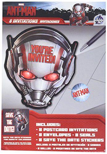Amscan Adventurous Ant-Man Birthday Party Invitations Cards Supply