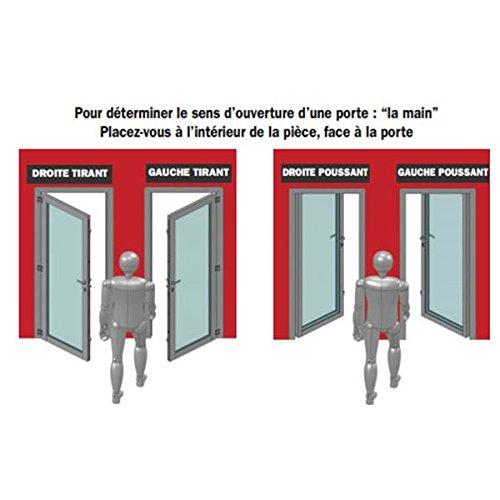 /Cerradura de sobreponer con asa Horizontal y cierre con llave Abus fe9762207/a sa H CE G/ para apertura exterior izquierda 88/x 140