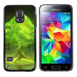 Paccase / SLIM PC / Aliminium Casa Carcasa Funda Case Cover - Trees world - Samsung Galaxy S5 Mini, SM-G800, NOT S5 REGULAR!