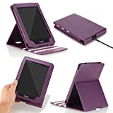 MoKo Case for Kindle Paperwhite, Premium Vertical Flip Cover with Auto Wake / Sleep for Amazon All-New Kindle Paperwhite (Fits All 2012, 2013, 2015 and 2016 Versions), PURPLE