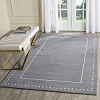 Safavieh Bella Collection BEL151D Handmade Silver and Ivory Premium Wool Area Rug (26 x 4)