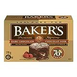 Baker's Chocolate Squares, Dark Chocolate, 170g (Pack of 12)