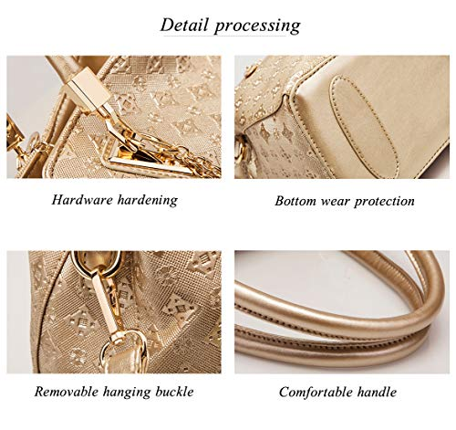Carte Mode Cuir La 1 Femmes Sac golden Porte monnaie Mis À Main 4 De Pcs Or Pu Épaule xHUCPw8wq