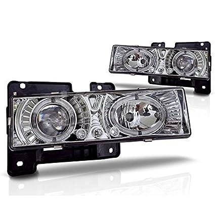 Chevy C10 Suburban nueva 2pieza cromado Halo lámpara de faros LED ...