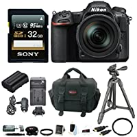 Nikon D500 DX-format DSLR Camera w/ 16-80mm f/2.8-4 ED VR Lens & 32GB SD Card Bundle