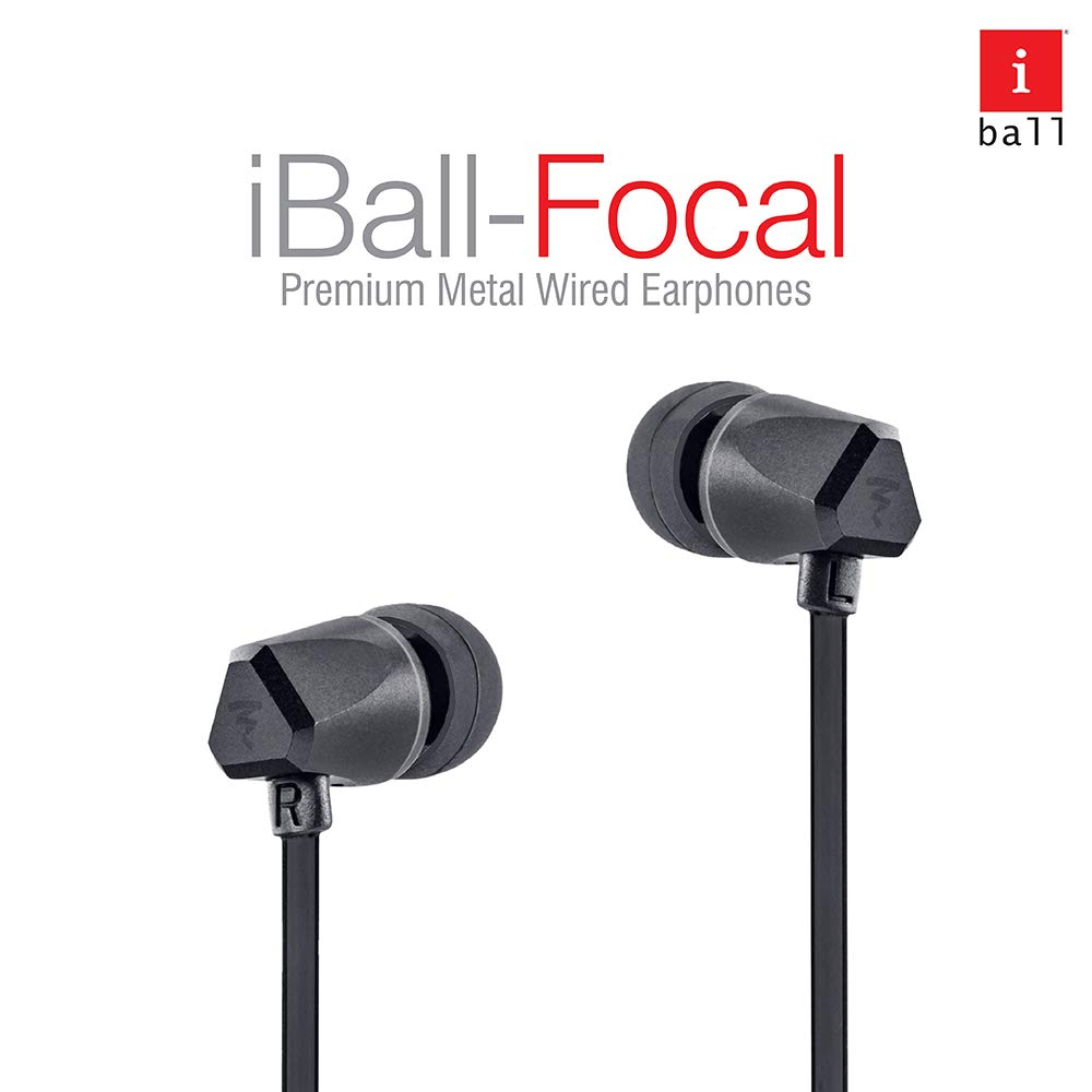 iBall Focal in Ear Wired Earphones - Black