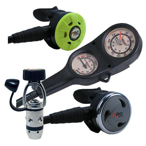 Promate Scuba Dive Regulator Gauge Octopus Gear Package, Titanium ()