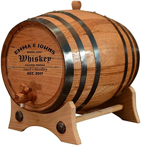 Personalized - Customized American White Oak Aging Barrel - Barrel Aged (2 Liters