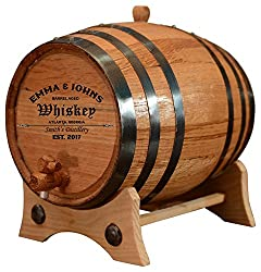 Unique client gifts: Personalized - Custom American White Oak Aging Barrel