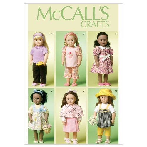Mccall Pattern McCall's Patterns M6526 18-Inch/46cm Doll ...