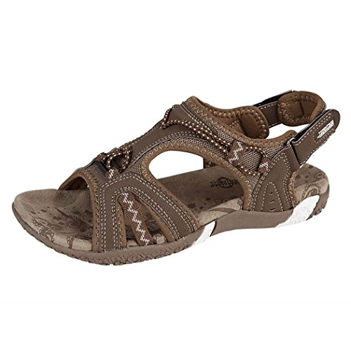 KOLLACHE Ladies Sports Sandals Womens Summer Light Weight Shoes Brown zW0AZh8x