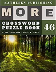 Crossword Puzzles Large Print: Crossword Variety | More 50 Large Print Crosswords Puzzles to Keep you Entertained for Hours | Fresh Forest Design