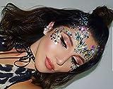 4 Sets Mermaid Face Gems Rhinestone Tattoo Festival Jewels Eyes Face Body Temporary Tattoos Glitter Temporary Tattoo Bindi Crystals Rainbow Tears Stickers