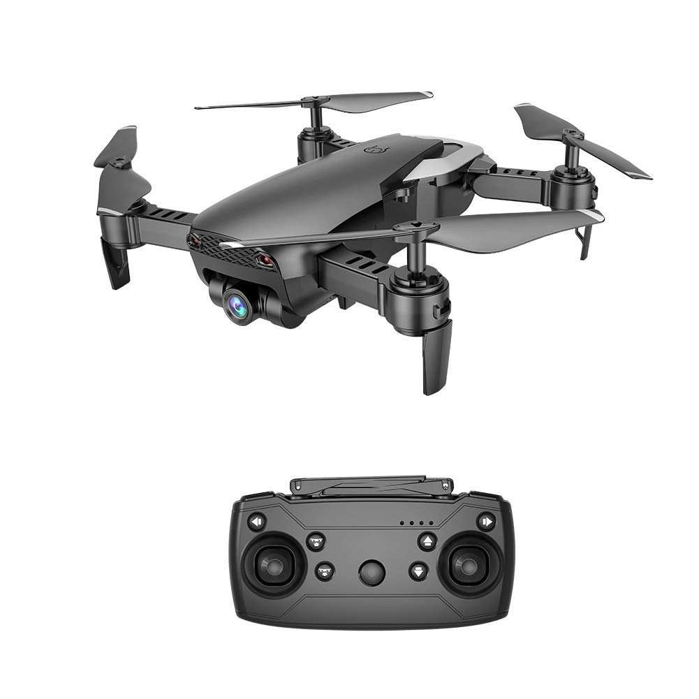 RC Drohne Quadcopter, Mamum X12 Drohne 0,3 MP Kamera WiFi FPV 2,4 4G One Key Return Quadcopter Spielzeug Geschenk, Schwarz, Einheitsgröße