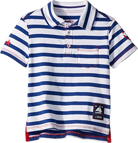 Hatley Kids Baby Boy's Nautical Stripes Polo Tee (Toddler/Little Kids/Big Kids) White 3T