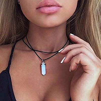 Aukmla Fashion Leather Chockers Necklaces with Coins for Women and Girls