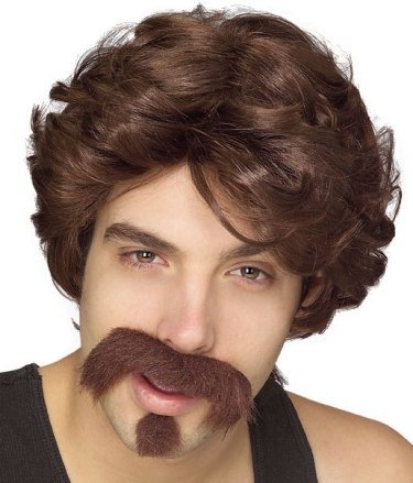 Dodgeball Globo Gym Costume (Rubie's Costume Co Big John Wig-Moustache/Goatee Costume)