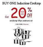 Duxtop 8100MC 1800W Portable Induction Cooktop Countertop Burner, Gold