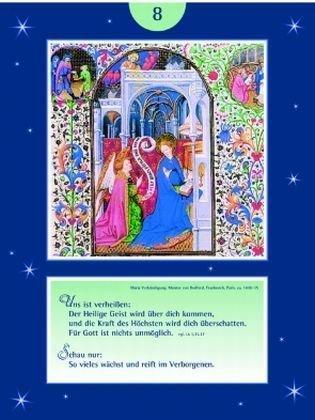 Buchmalerei erhellt den Advent: Wechselbild-Adventskalender