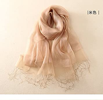 64b5e3bf4 Current Su Scarf Spring Dress Shawls Double Hit The Color Gold Silk Silk- Root Yarn
