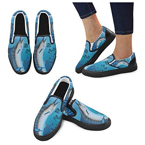 Unique Debora Mode Personnalisé Baskets Féminines Mocassins Inhabituels Slip-on Chaussures En Toile Multicoloured30