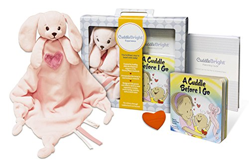 CuddleBright Experience Bunny Lovie Kit, Includes Security Blanket, Perfect Baby Gift for Newborns/Toddlers, Created by Child Development (Baby Blanket Kit)