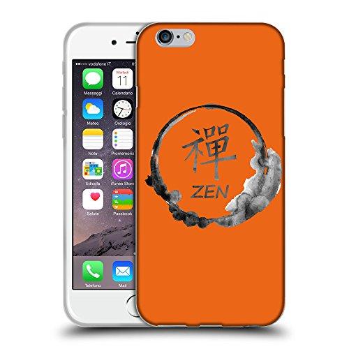 """GoGoMobile Coque de Protection TPU Silicone Case pour // Q07670632 Bouddha 2 sécurité Orange // Apple iPhone 6 PLUS 5.5"""""""