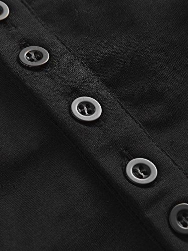 Shirt Legendaryman Tops avec Rond Col Femmes Shirts Tee Manches T 3 Unie Hauts Automne Mode Noir Court Slim Bandage Printemps 4 Couleur Chemisiers Blouses et rHxqfr7